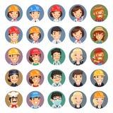 Iconos Set1.1 de los caracteres del vector de las profesiones Fotografía de archivo libre de regalías