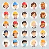 Iconos Set1.2 de los caracteres del vector de las profesiones Imagen de archivo libre de regalías