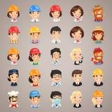 Iconos Set1.3 de los caracteres del vector de las profesiones Fotografía de archivo libre de regalías