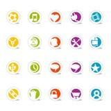 Iconos simples 2 (vector) del Web Foto de archivo