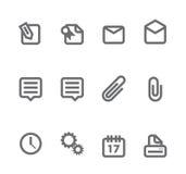 Iconos simples aislados en el blanco - conjunto 6 Fotografía de archivo