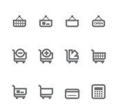 Iconos simples aislados en el blanco - conjunto 7 Fotos de archivo