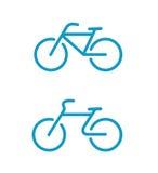 Iconos simples de la bicicleta Imagen de archivo libre de regalías