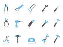 Iconos simples de la herramienta de mano, serie del color Fotografía de archivo