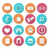 Iconos simples de los objetos Foto de archivo