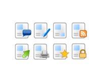 Iconos simples del poste del artículo Fotos de archivo