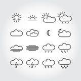 Iconos simples del tiempo Fotografía de archivo