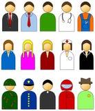 Iconos simples del vector de la gente Imagenes de archivo