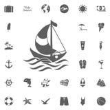 Iconos simples del viaje fijados Iconos universales del viaje a utilizar para el web y UI móvil, sistema de elementos básicos del stock de ilustración
