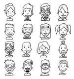 Iconos simples fijados, vector del avatar Fotografía de archivo