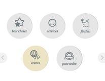 Iconos simples para el Web Fotografía de archivo libre de regalías