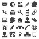 Iconos simples para la tarjeta de visita y el uso diario eps10 Imagenes de archivo
