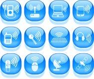 Iconos sin hilos Imagen de archivo libre de regalías