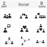 Iconos sociales Imagenes de archivo