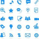 iconos sociales de la red imágenes de archivo libres de regalías