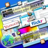 Iconos sociales de la red Fotos de archivo libres de regalías