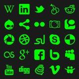 Iconos sociales de los media Imagen de archivo libre de regalías