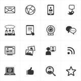 Iconos sociales de los media ilustración del vector