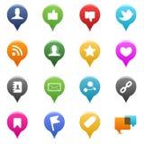 Iconos sociales de los media Fotos de archivo libres de regalías