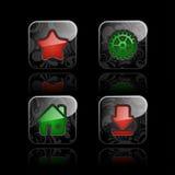 Iconos sociales de los media (fije #2) Imagen de archivo libre de regalías