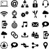 Iconos sociales de los medios libre illustration