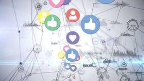 Iconos sociales de los medios e iconos digitales libre illustration