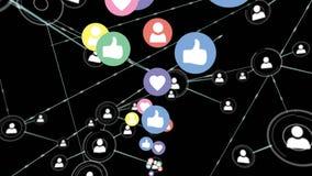 Iconos sociales de los medios y del perfil stock de ilustración