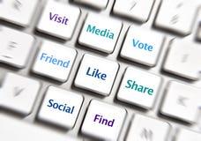 Iconos sociales del establecimiento de una red Imagenes de archivo