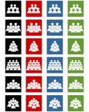 Iconos sociales fijados Imagen de archivo