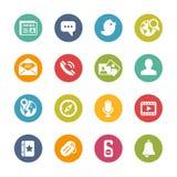 Iconos sociales -- Serie fresca de los colores Imagen de archivo