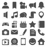 Iconos sociales y medios Fotografía de archivo