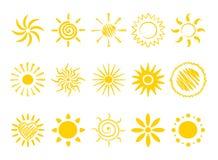 Iconos - sol Fotografía de archivo libre de regalías