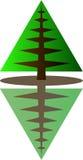 Iconos spruce verdes Logotipo simple del vector Foto de archivo