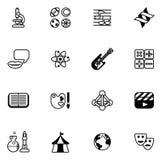 Iconos sujetos de la educación o del concurso Fotografía de archivo libre de regalías