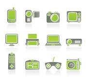Iconos técnicos de alta tecnología del equipo Fotos de archivo
