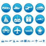 Iconos teledirigidos de los juguetes Imagenes de archivo