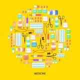 Iconos temáticos médicos Foto de archivo libre de regalías