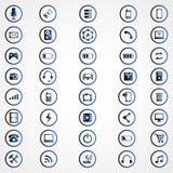 Iconos universales del esquema Foto de archivo libre de regalías