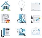 Iconos universales del Web site del vector Fotografía de archivo