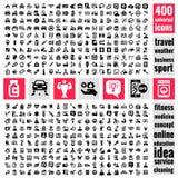 Iconos universales fijados stock de ilustración