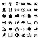 Iconos universales negros del web del vector Libre Illustration