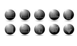 Iconos universales para el Web Imágenes de archivo libres de regalías