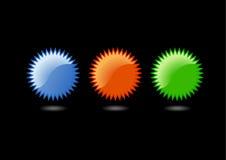 Iconos vacíos del vector. Foto de archivo