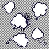 Iconos vacíos del vector de la burbuja cómica del discurso ilustración del vector
