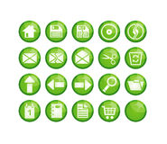 Iconos verdes Foto de archivo