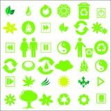 Iconos verdes Fotografía de archivo libre de regalías