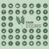 Iconos verdes de la agricultura Imagenes de archivo