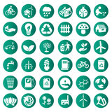 Iconos verdes del eco del vector fijados libre illustration