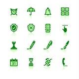 Iconos verdes del software Stock de ilustración