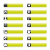 Iconos verdes del Web Fotos de archivo libres de regalías